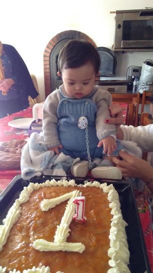 mirando la tarta